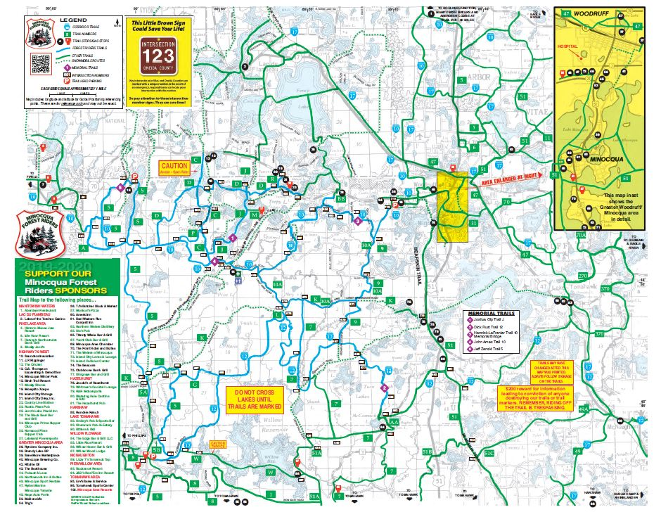 2019-2020 MFR Trail Map